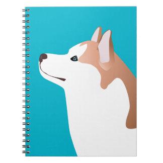Siberian Husky - Red - Breed Template Design Notebook