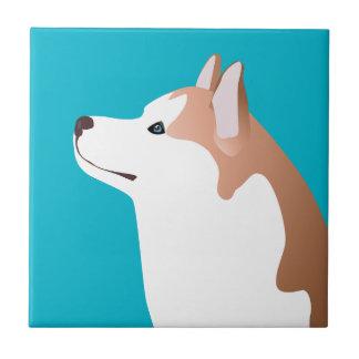 Siberian Husky - Red - Breed Template Design Ceramic Tile