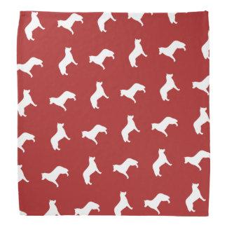 Siberian Husky Silhouettes Pattern Bandana
