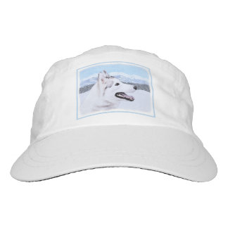Siberian Husky (Silver and White) Painting Dog Art Hat