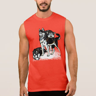 siberian husky sleeveless shirt