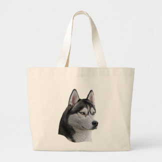 Siberian Husky - Stylized Image - Add Your Text Canvas Bags