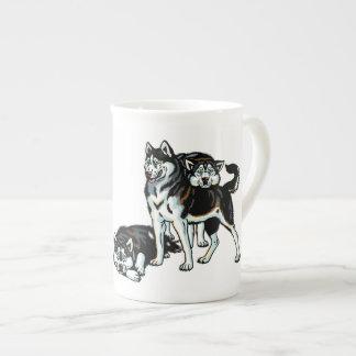 siberian husky tea cup