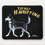 Siberian Husky Totally Hairifying Mouse Mats