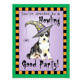 Siberian Husky Witch Card
