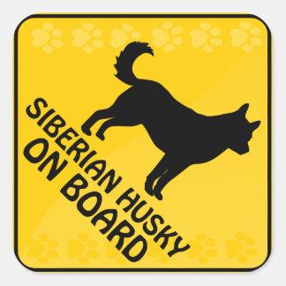 Siberian Husky Xing Square Sticker