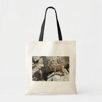 Siberian ibex tote bag