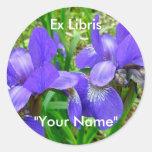 Siberian Iris Coordinating Items Round Sticker