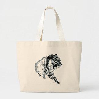 Siberian Snow Tiger Canvas Bags