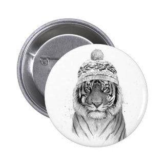 Siberian tiger 6 cm round badge