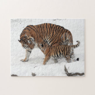 Siberian Tiger and Cub Puzzle