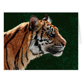 Siberian tiger big greeting card