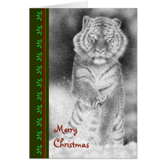 Siberian Tiger Christmas Card