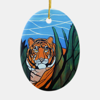 Siberian Tiger Christmas Ornament