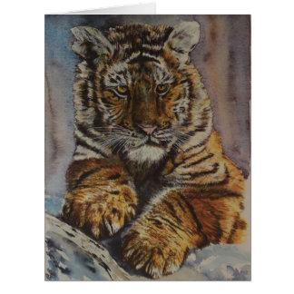 Siberian Tiger Cub Card
