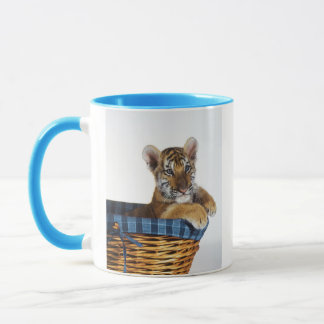 Siberian Tiger Cub in basket Mug