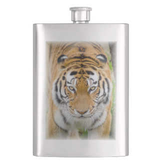 Siberian tiger hip flask