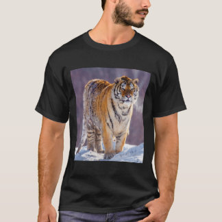 Siberian tiger in snow, China T-Shirt