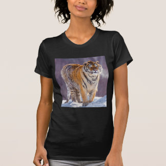 Siberian tiger in snow, China T-Shirt