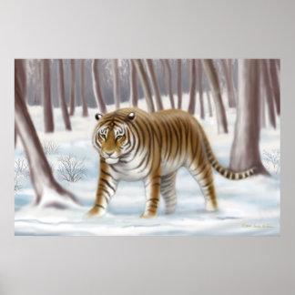 Siberian Tiger in Winter Poster
