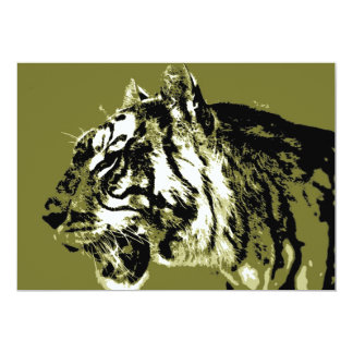 Siberian Tiger Invitation