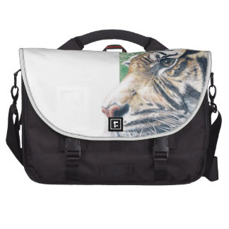 Siberian tiger laptop messenger bag