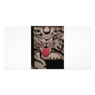 SIBERIAN TIGER PHOTO CARD TEMPLATE