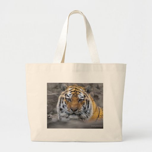 Siberian Tiger Photograph Canvas Bags