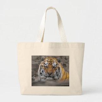 Siberian Tiger Photograph Canvas Bags