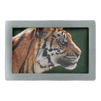 Siberian tiger rectangular belt buckle