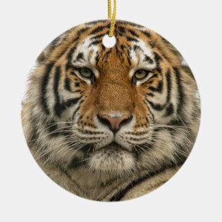 Siberian Tiger Round Ceramic Decoration