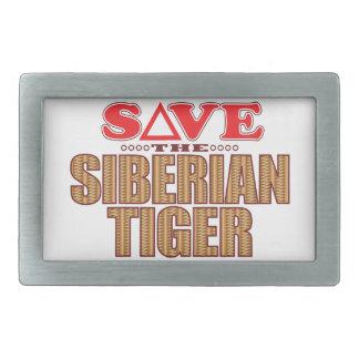 Siberian Tiger Save Belt Buckle