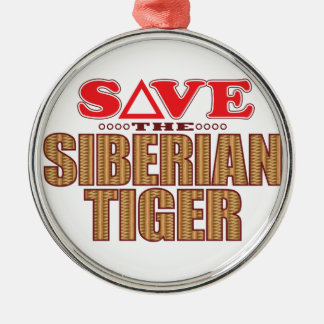 Siberian Tiger Save Christmas Ornament