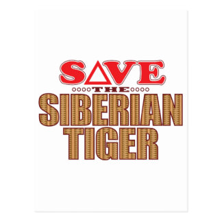Siberian Tiger Save Postcard