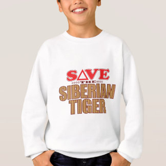 Siberian Tiger Save Sweatshirt