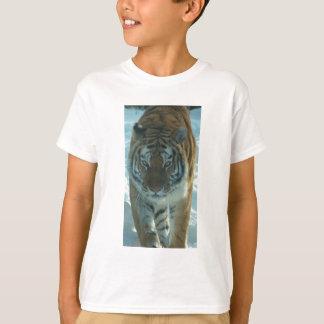 Siberian Tiger Stalking Kids Shirt