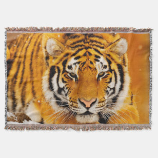 Siberian Tiger Throw Blanket