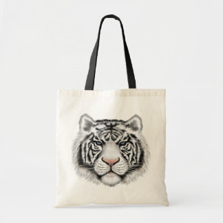 Siberian White Tiger Tote Bag