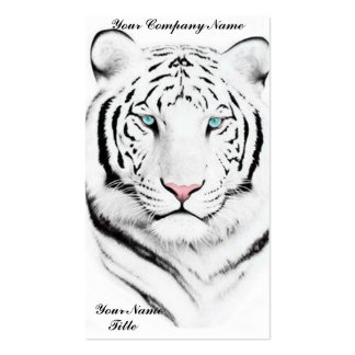 Siberian White Tiger Business Card