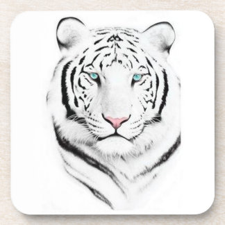 Siberian White Tiger Drink Coasters