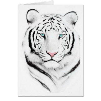 Siberian White Tiger Greeting Card