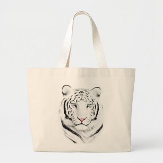 Siberian White Tiger Large Tote Bag
