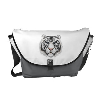 Siberian White Tiger Commuter Bags