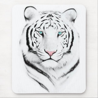 Siberian White Tiger Mouse Pad