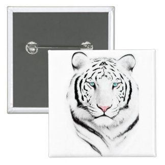 Siberian White Tiger Pinback Buttons