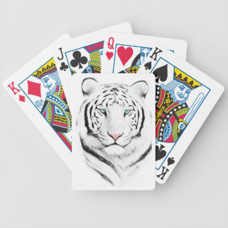 Siberian White Tiger Playing Cards