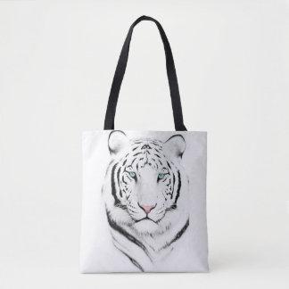 Siberian White Tiger Tote Bag