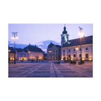 Sibiu by night canvas print