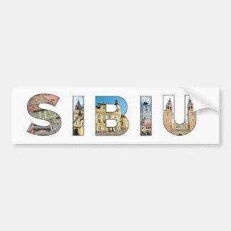 sibiu city romania landmark inside text symbol tra bumper sticker