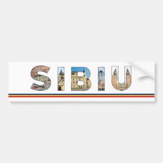 sibiu city romania landmark inside text symbol tra bumper sticker